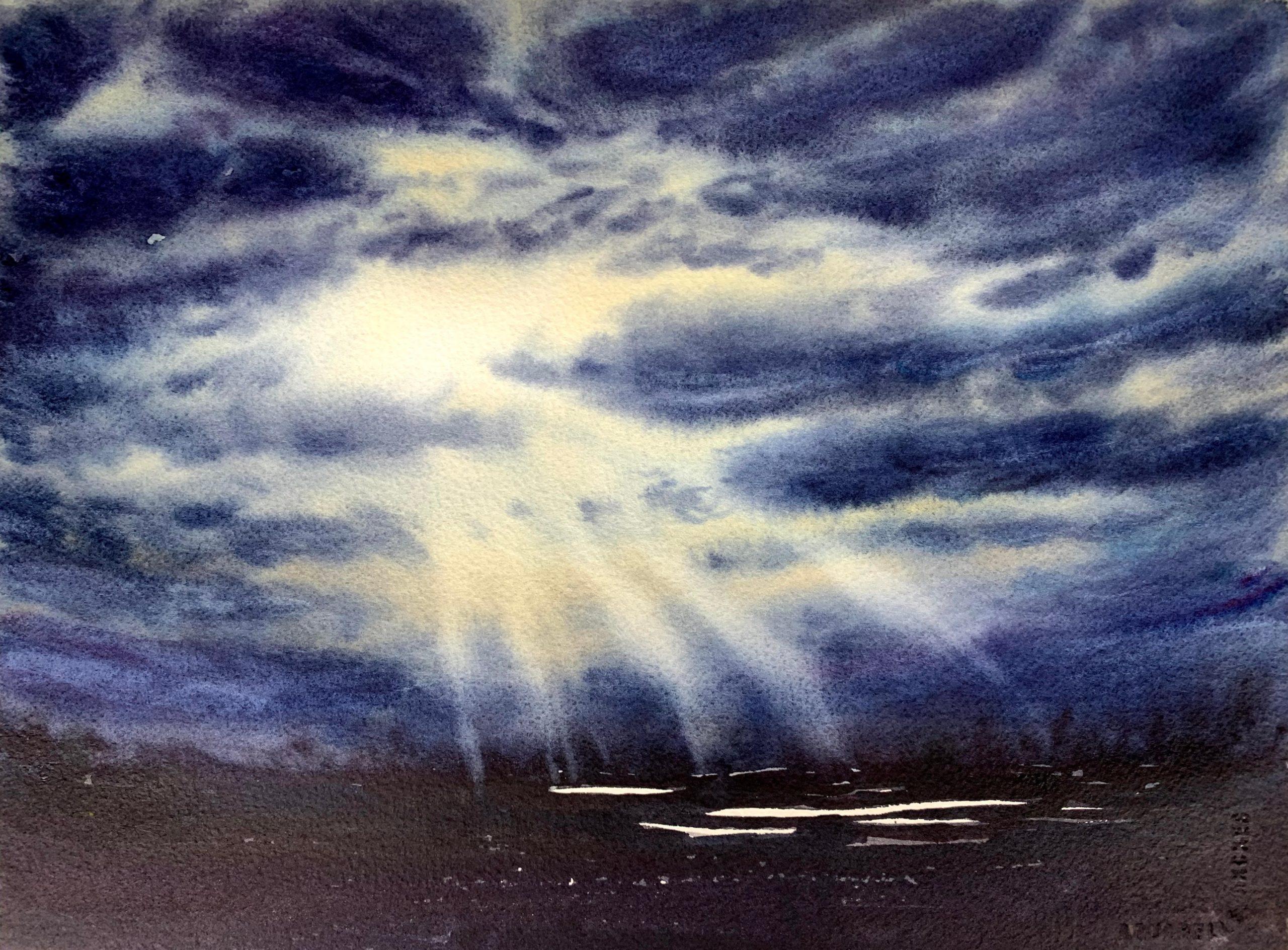Cours aquarelle ciel lumineuxRemy Lach