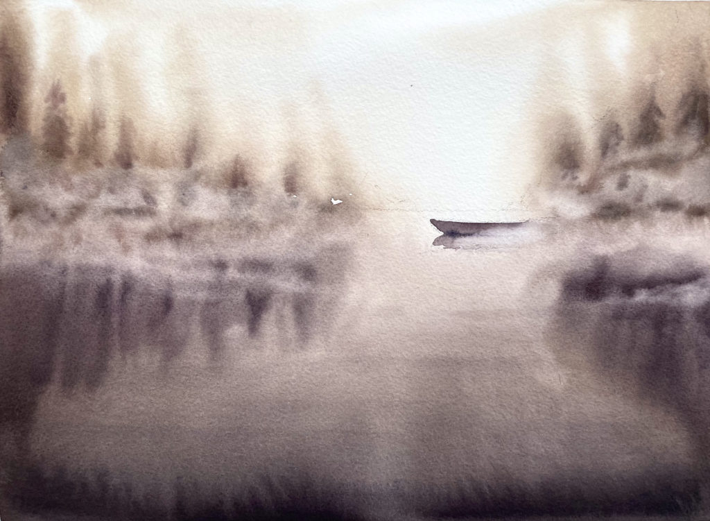 lac féérique aquarelle remy lach